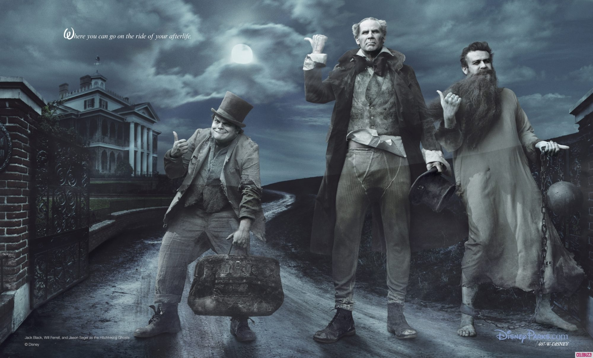 Will Ferrell, Jason Segel, Jack Black are the Hitchhiking Ghosts