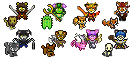 Habitica characters and customizations