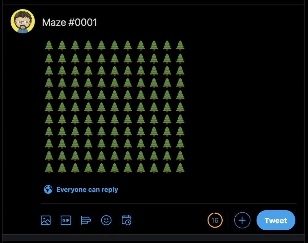 A dummy maze to test the image sizes